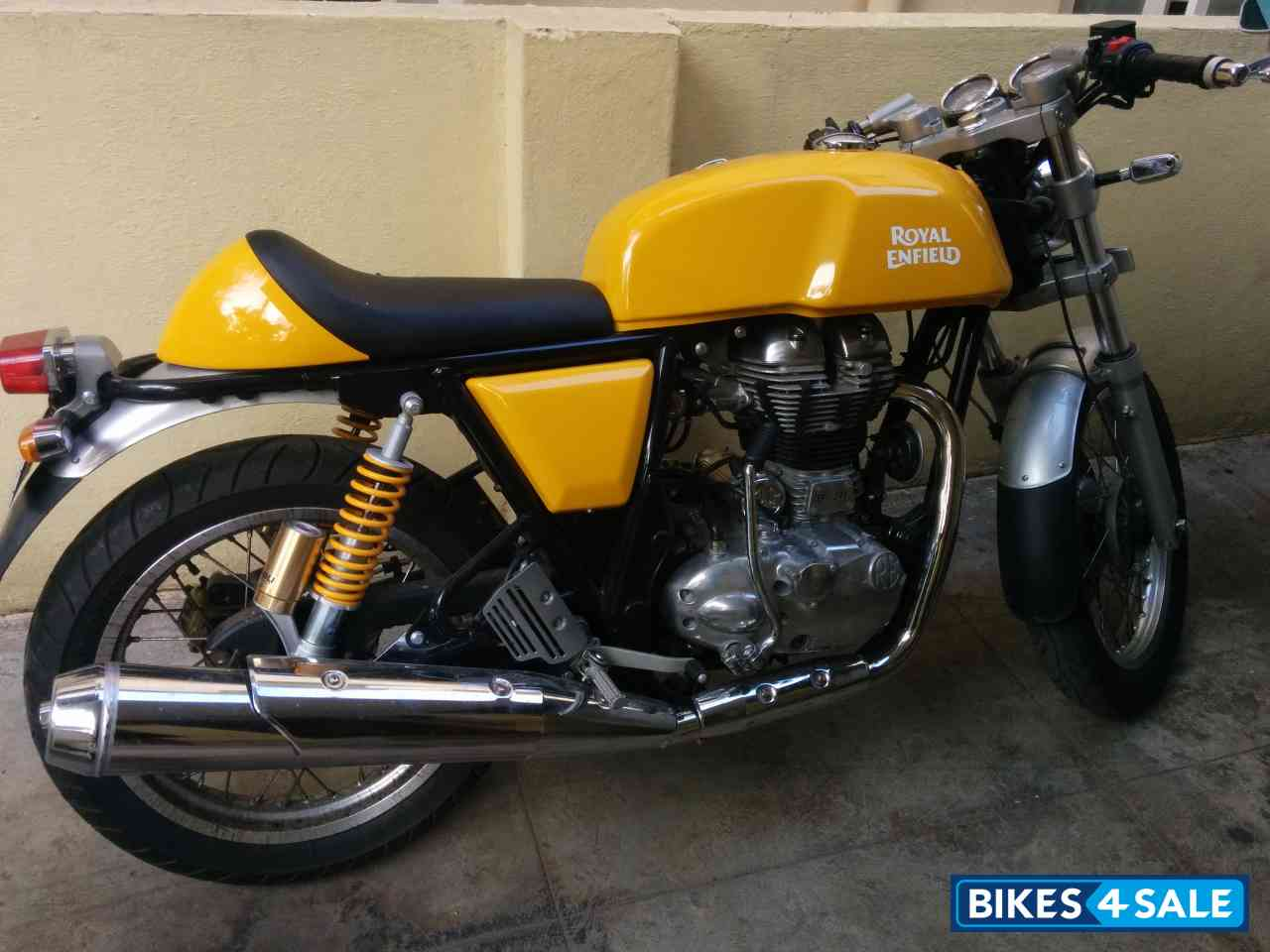 used 2014 model royal enfield continental gt 535 for sale in bangalore id 118603 yellow colour. Black Bedroom Furniture Sets. Home Design Ideas