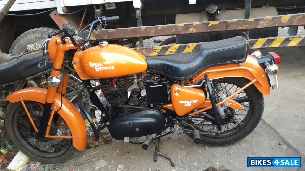 Orange Royal Enfield Bullet Standard 350 For Sale In