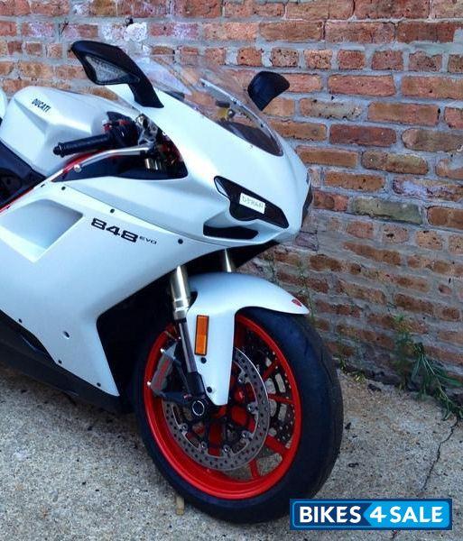 white ducati superbike 848 evo corsa se for sale in new. Black Bedroom Furniture Sets. Home Design Ideas