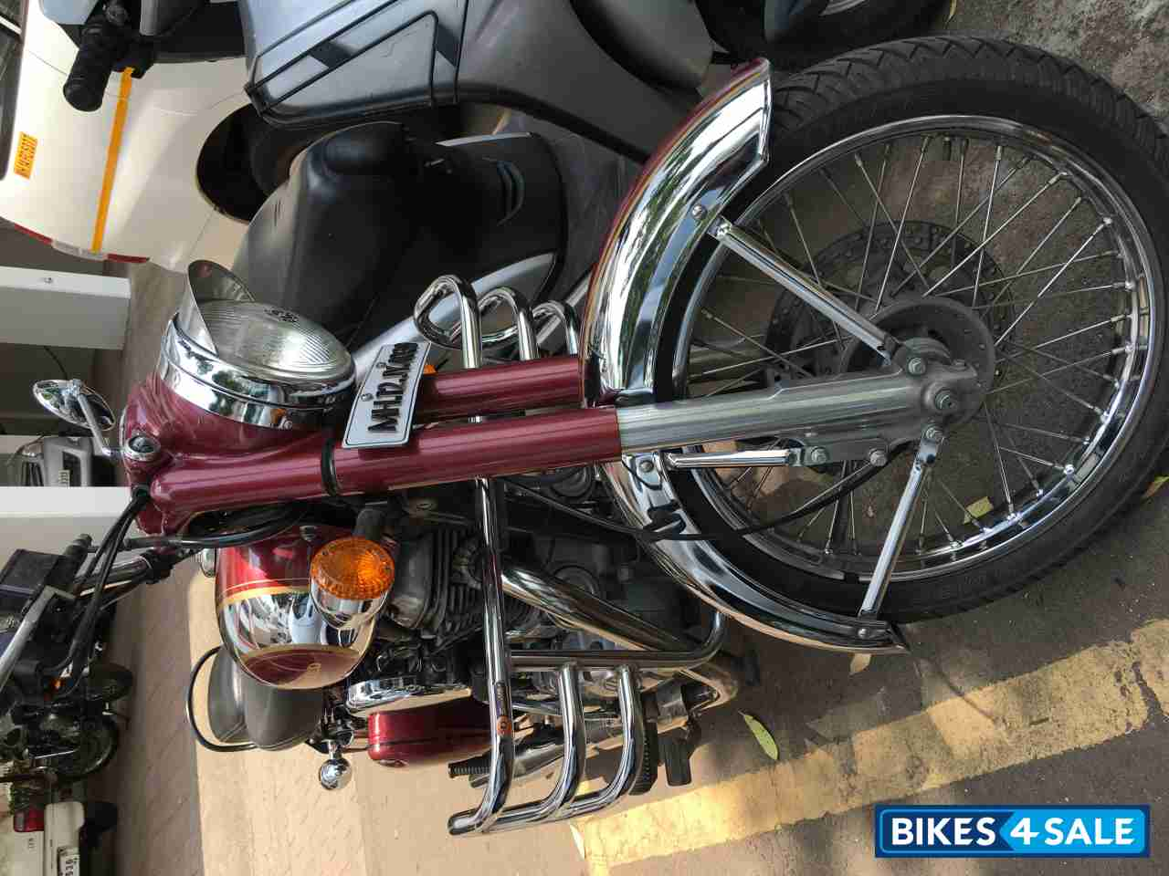 Royal Maroon Royal Enfield Classic Chrome Picture 1 Bike Id 129704 Bike Located In Pune Bikes4sale