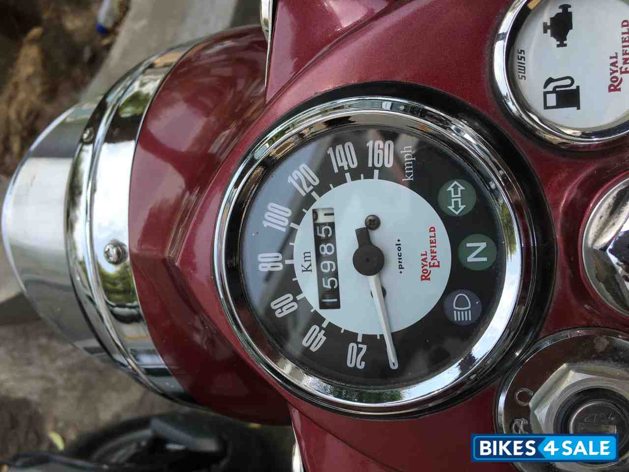 Royal Maroon Royal Enfield Classic Chrome Picture 3 Bike Id 129704 Bike Located In Pune Bikes4sale