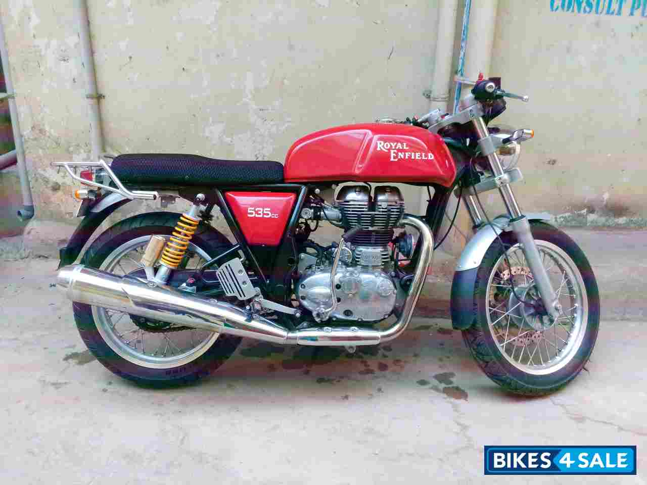 used 2014 model royal enfield continental gt 535 for sale in anantapur id 137363 cherry colour. Black Bedroom Furniture Sets. Home Design Ideas
