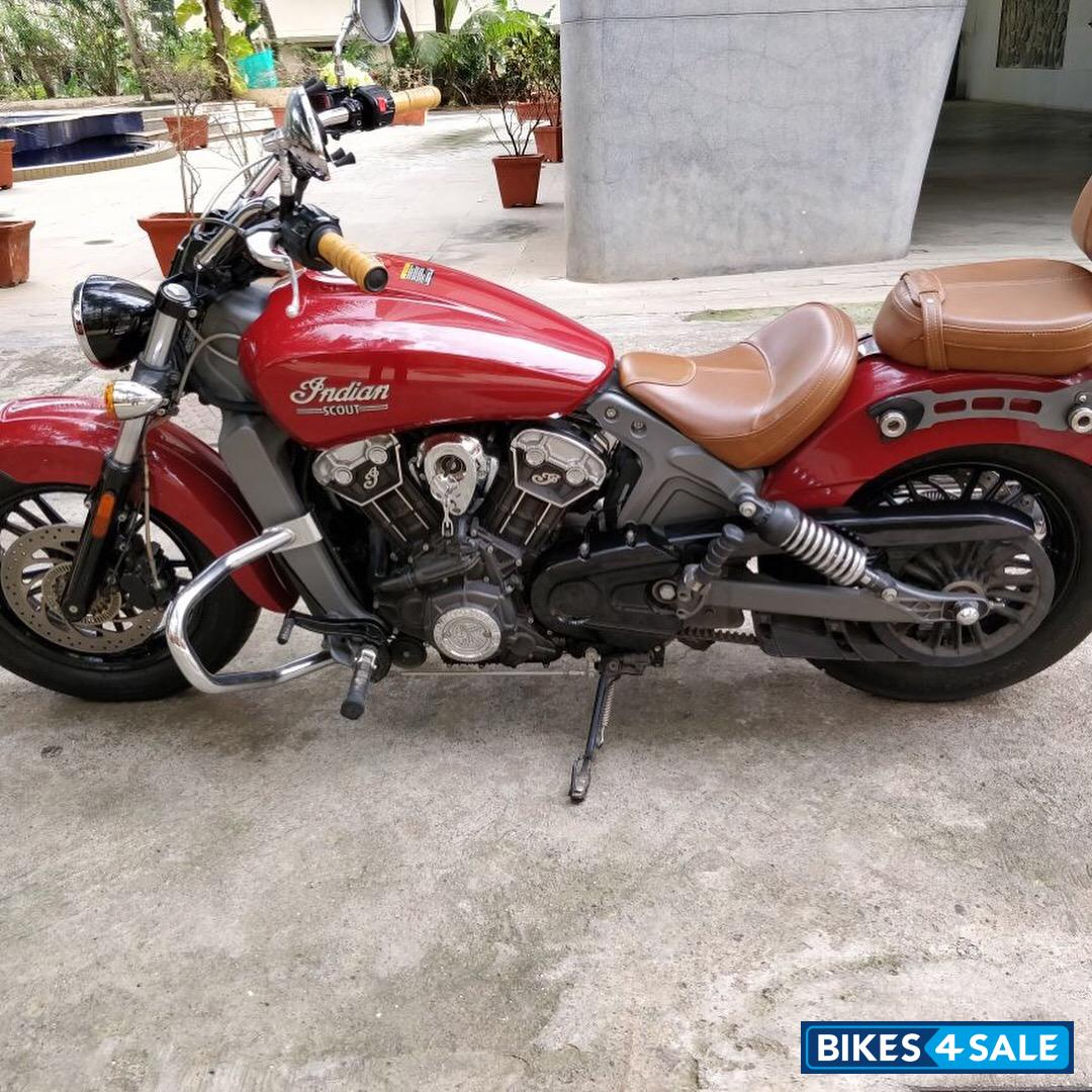 used 2015 model indian scout for sale in mumbai id 152076 red colour bikes4sale. Black Bedroom Furniture Sets. Home Design Ideas