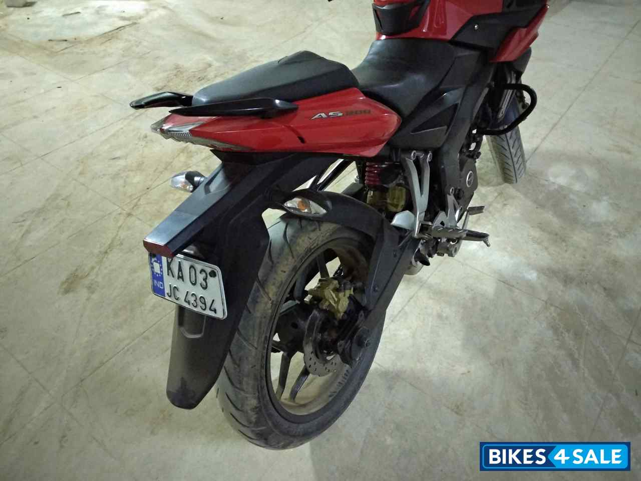 Red Bajaj Pulsar AS 200