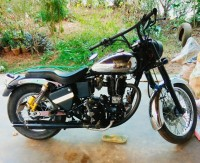 Chrome And Black Royal Enfield Bullet Machismo A350