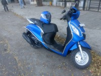 Matt Blue Yamaha Fascino