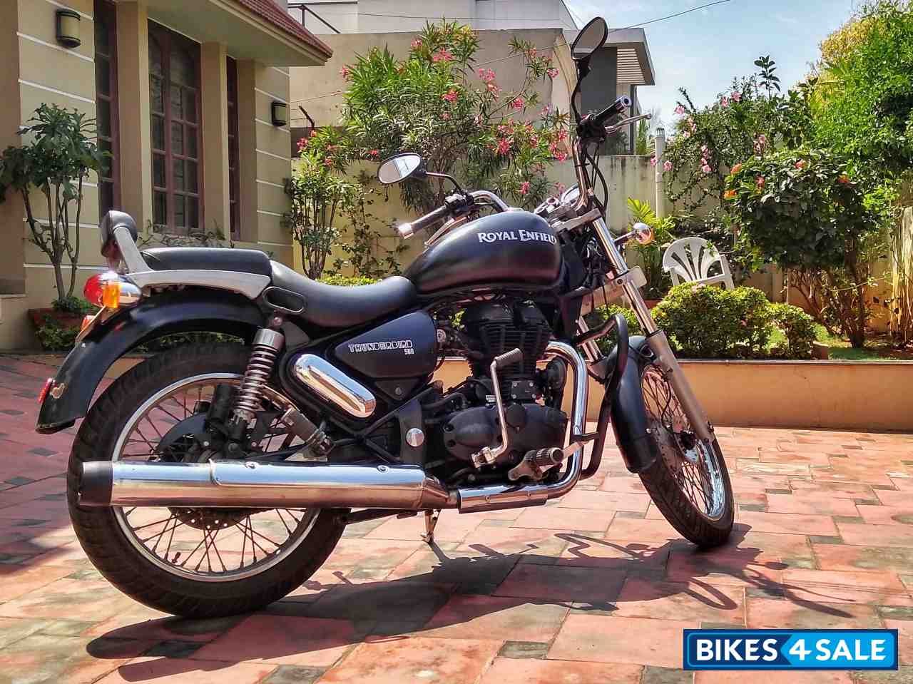Matte Black Royal Enfield Thunderbird 500 Picture 4 Bike Id 164822 Bike Located In Chennai Bikes4sale