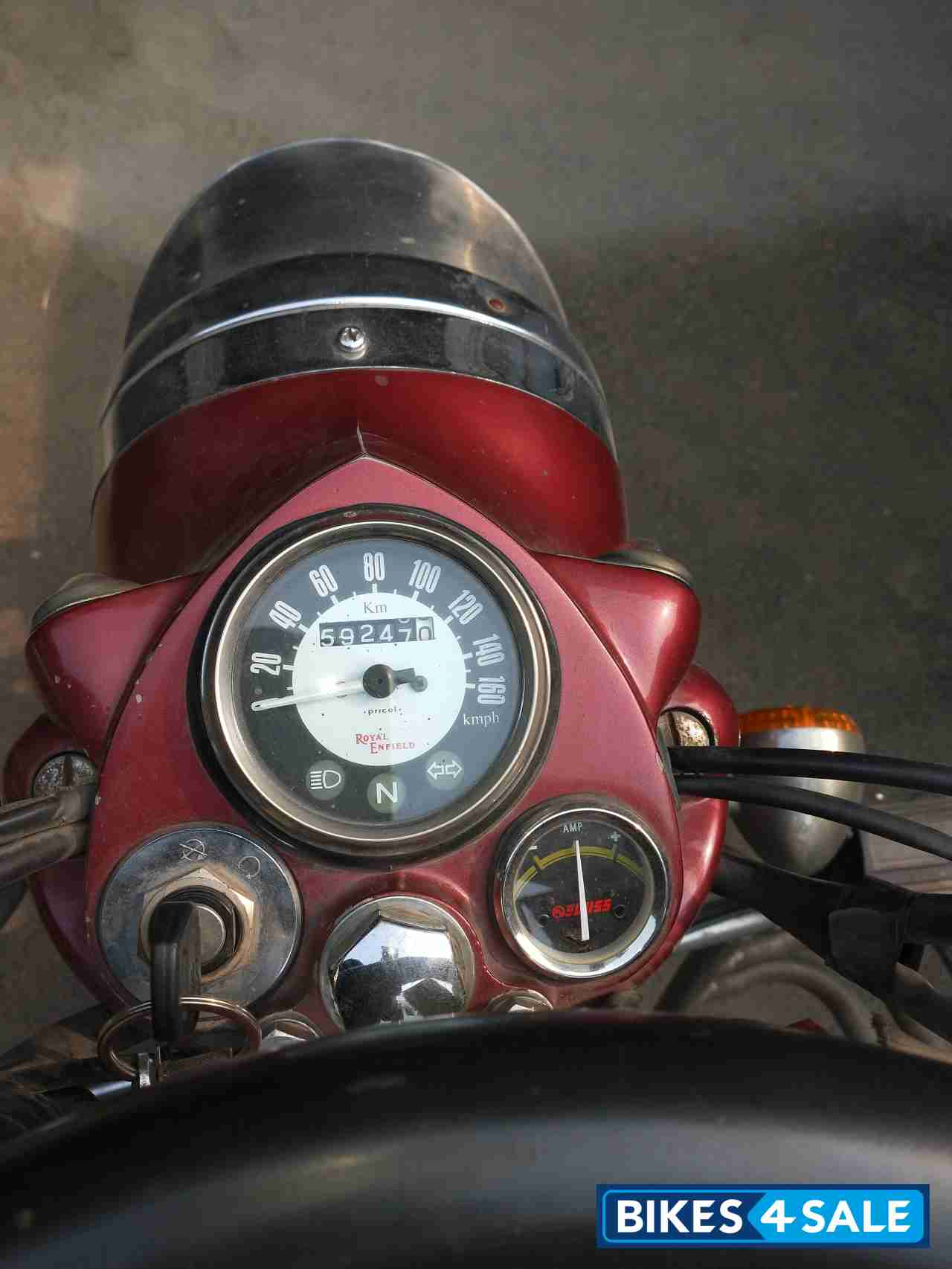 Maroon Royal Enfield Classic 500