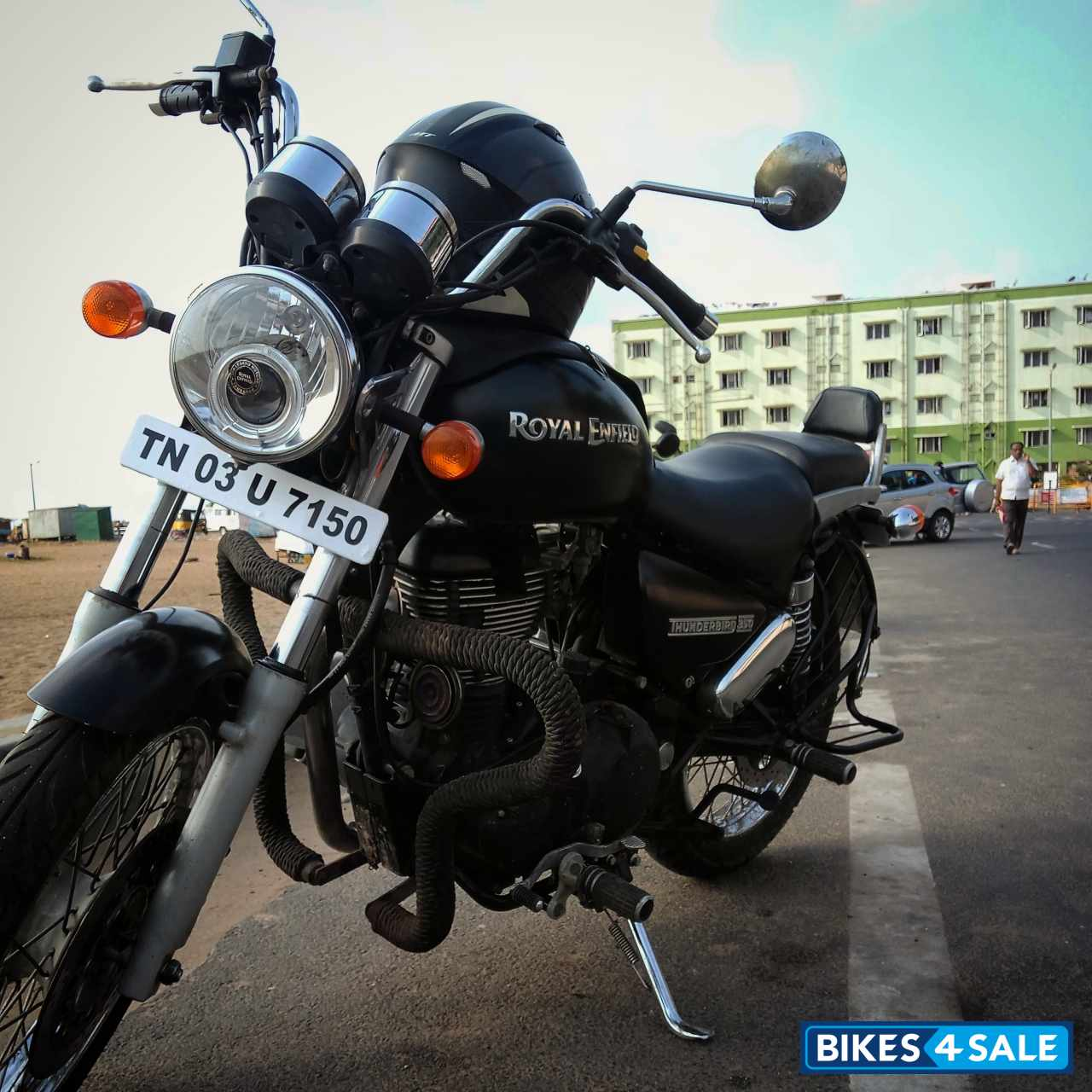 Matte Black Royal Enfield Thunderbird 350 Picture 8 Bike Id 203087 Bike Located In Chennai Bikes4sale
