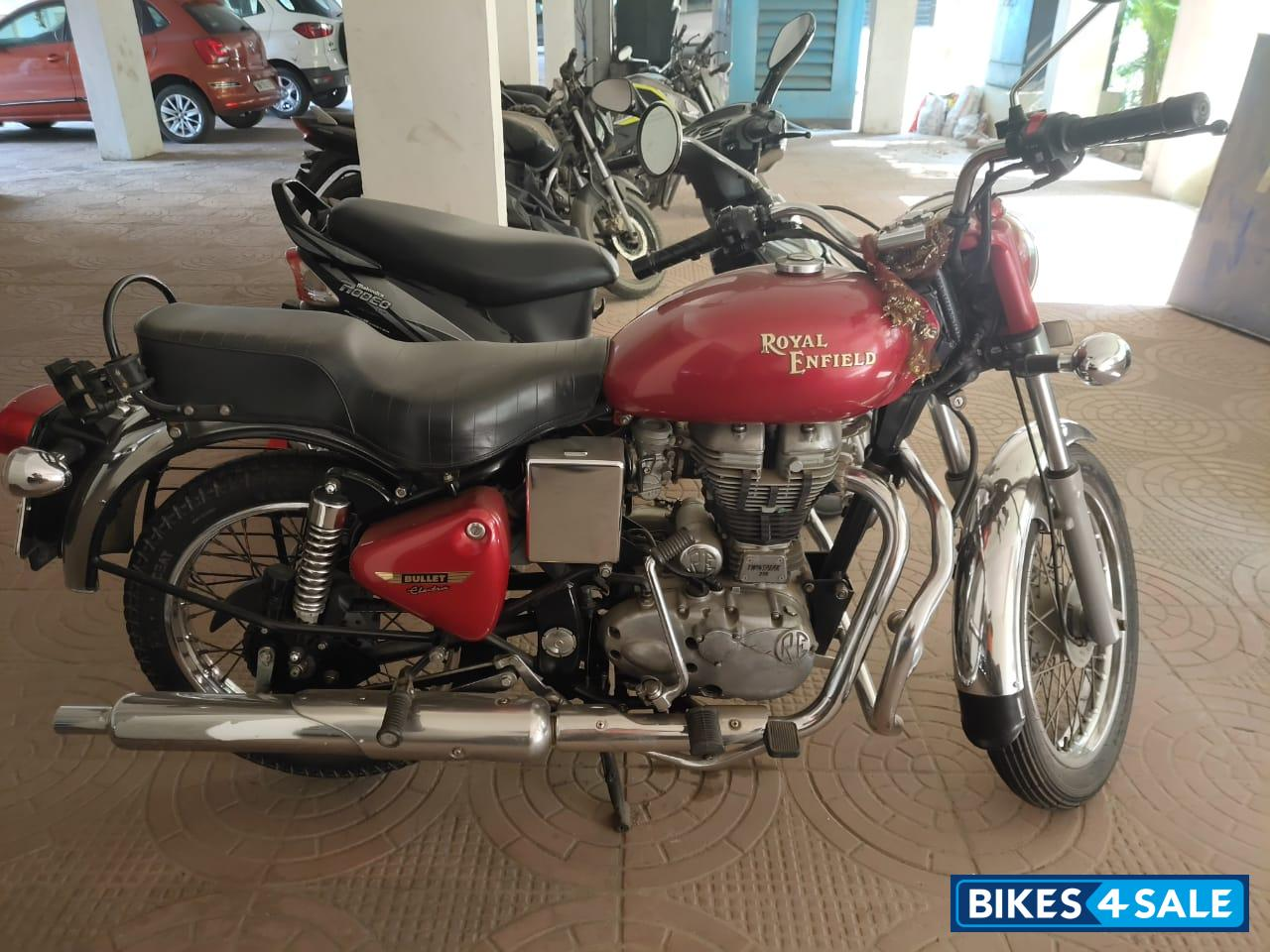 Red Royal Enfield Bullet Electra