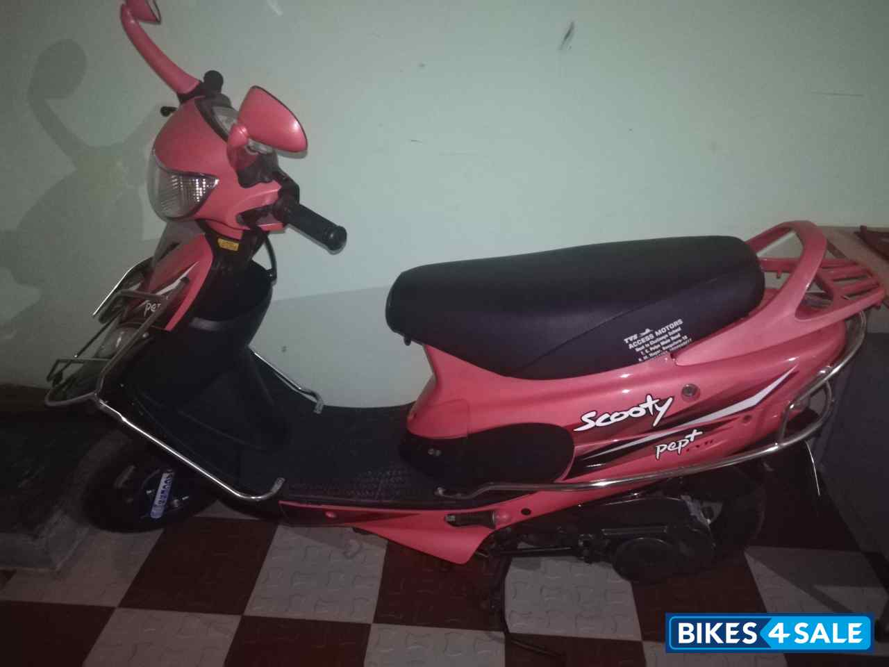 Peach TVS Scooty Pep Plus