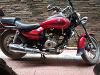 Red Bajaj Avenger Cruise 220