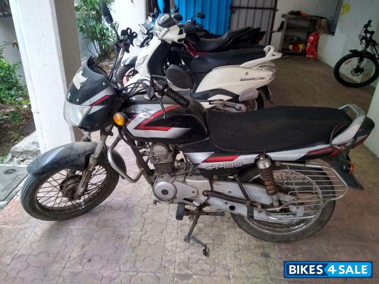 Black & Red Bajaj CT 100