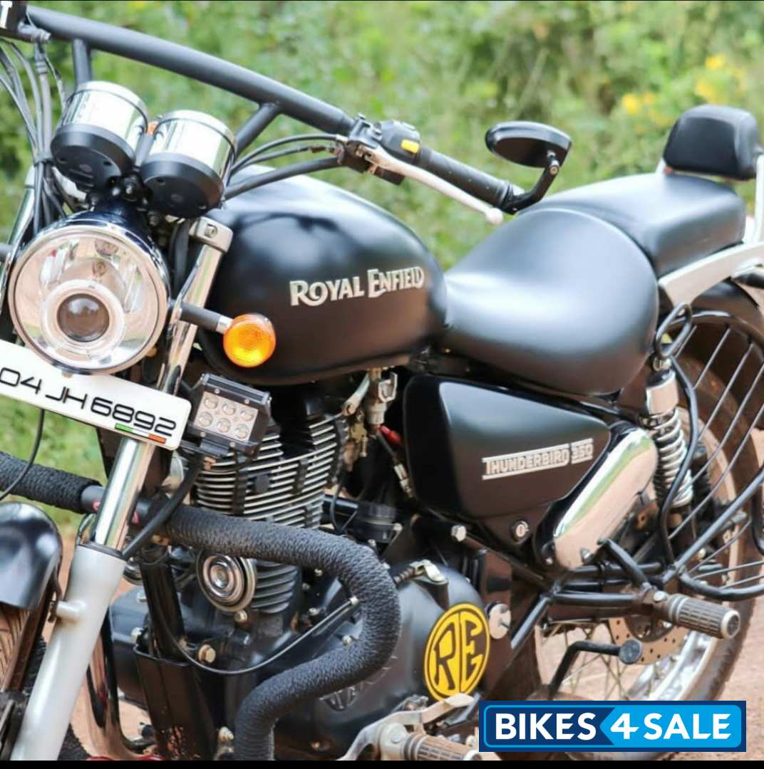 Used 2017 Model Royal Enfield Thunderbird 350 For Sale In Bangalore Id 226922 Matte Black Colour Bikes4sale