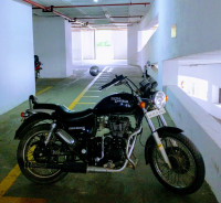 Dark Blue Royal Enfield Thunderbird 350