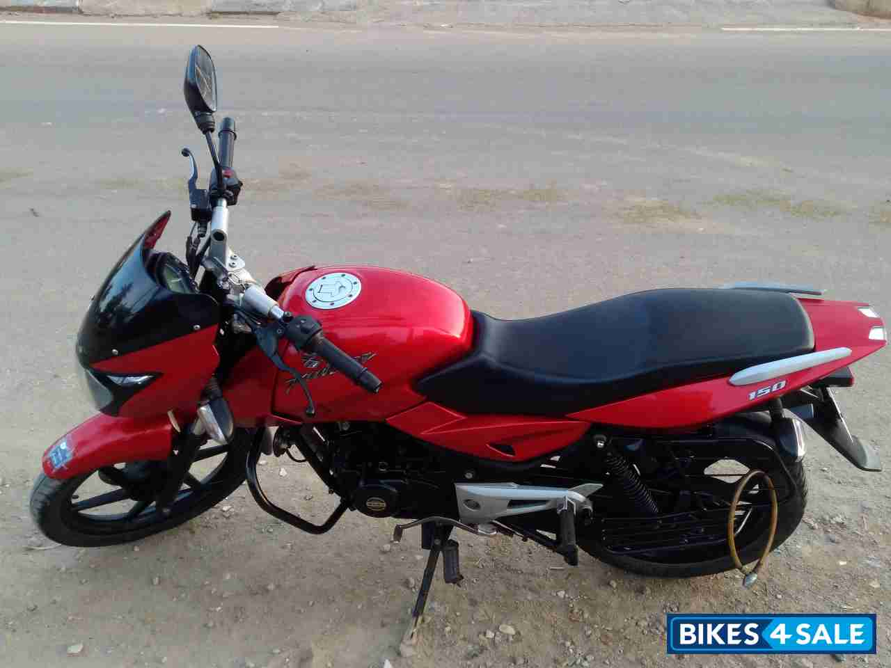 Cherry Red Bajaj Pulsar 150 DTSi