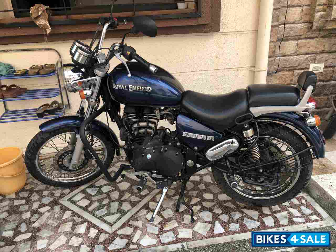 Marine Blue Royal Enfield Thunderbird 350