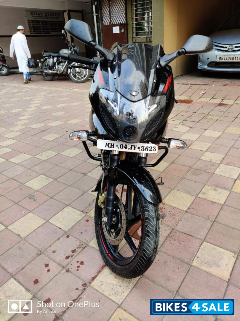 Black And Red Bajaj Pulsar 220 DTSFi