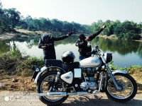 Silver Royal Enfield Bullet Electra Twinspark