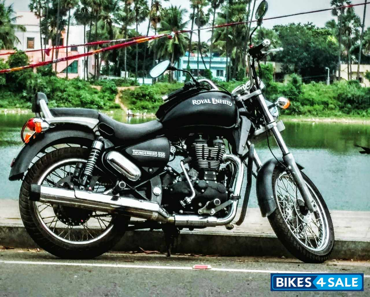 Grey Royal Enfield Thunderbird 500