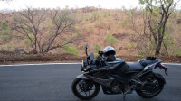 Black+grey Bajaj Pulsar RS 200 ABS