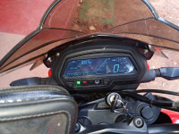 Red Bajaj Dominar 2018 disc and dual abs