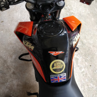 Orange-black KTM Duke 390