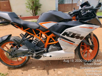 White And Orange KTM RC 390