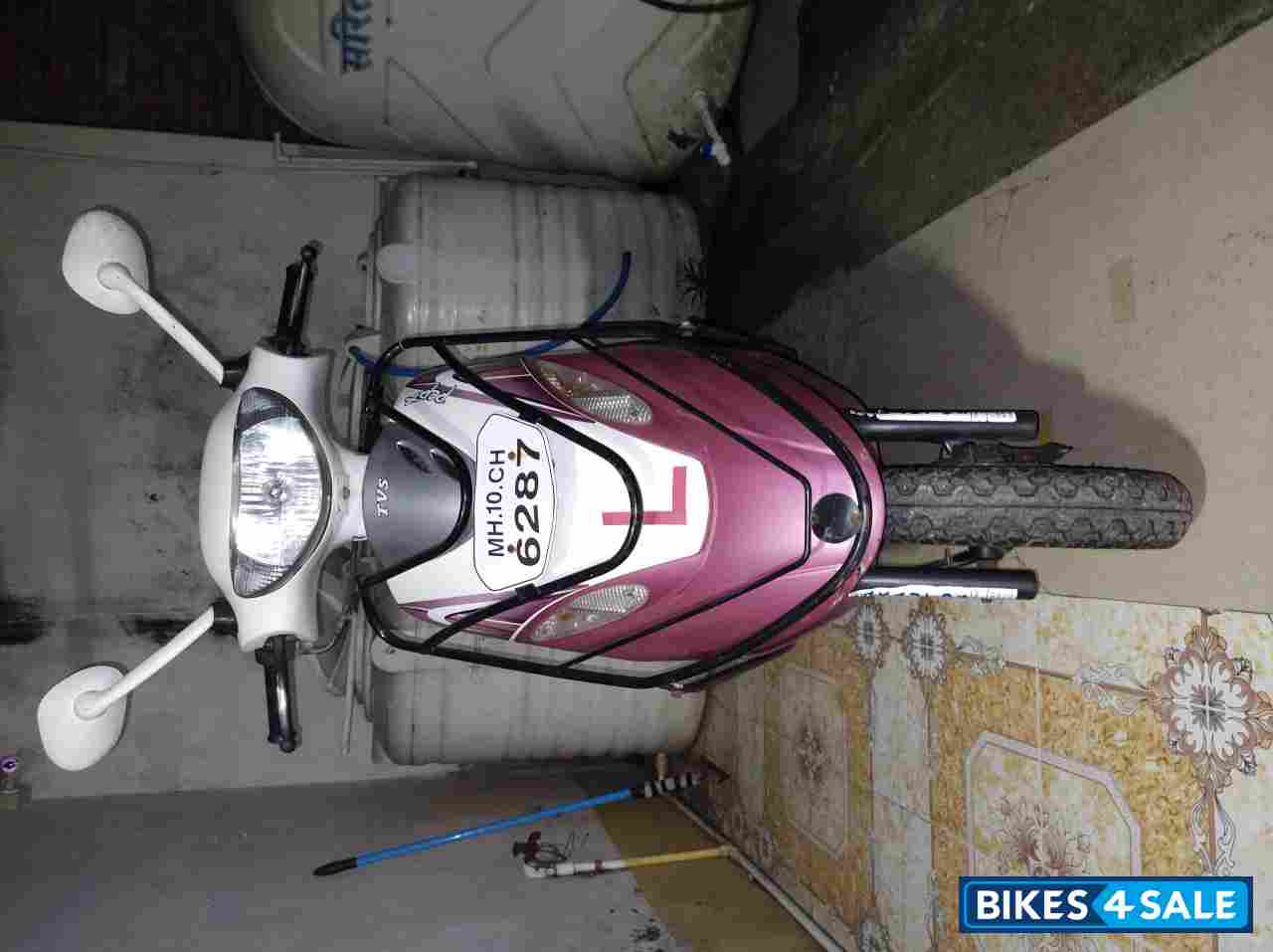 Pink- White TVS Scooty Pep Plus