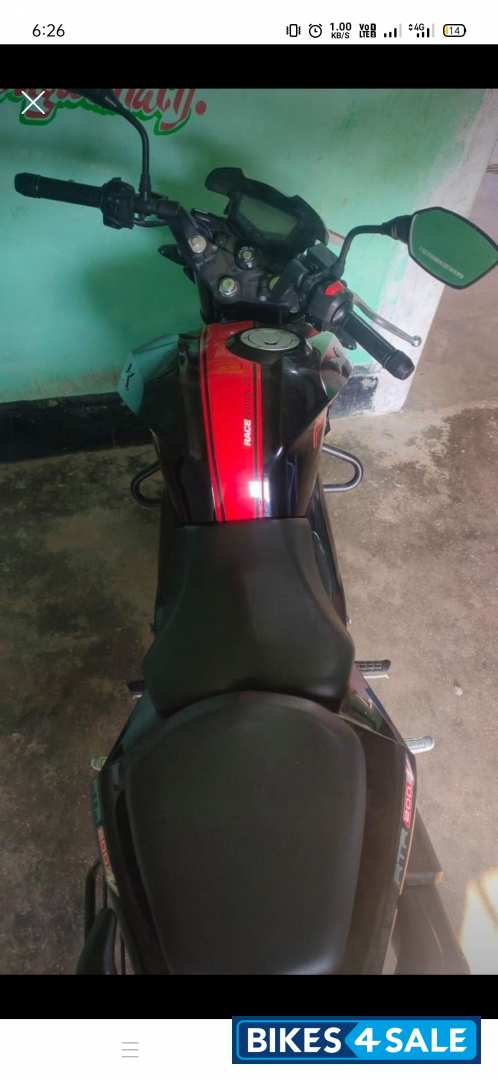 Black Red TVS Apache RTR 200 4V ABS Race Edition 2.0