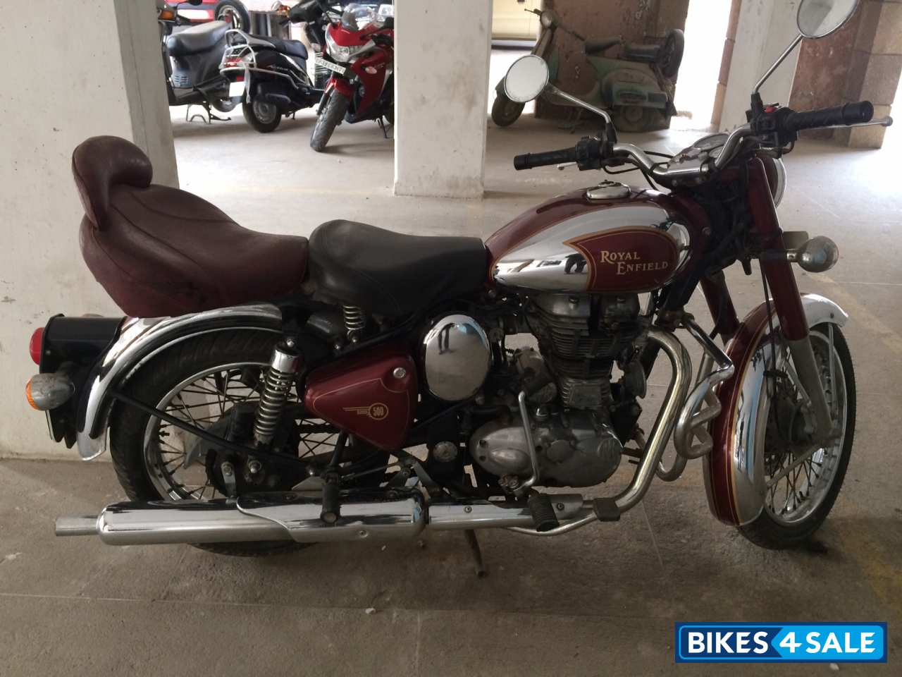 Used 2012 Model Royal Enfield Classic Chrome For Sale In Dehradun Id 108051 Maroon Colour Bikes4sale