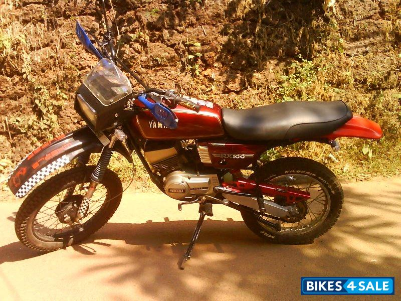 Red Yamaha Rx 100 Picture 2 Bike Id 74577 Bike Located – Fondos de