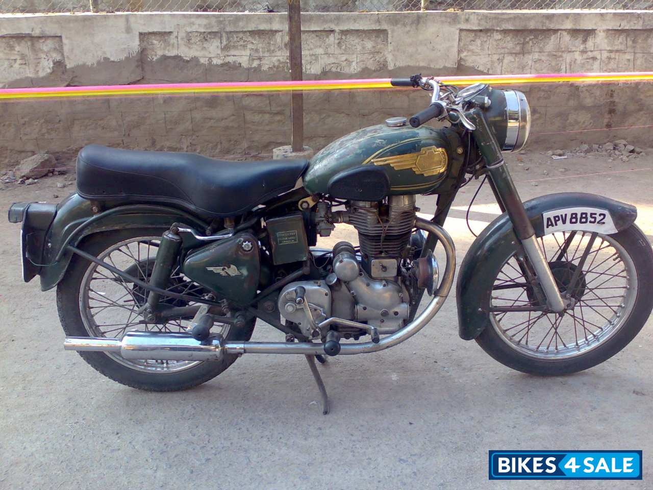 Used 1974 Model Royal Enfield Bullet Standard 350 For Sale In Hyderabad Id 41640 Military Green Colour Bikes4sale
