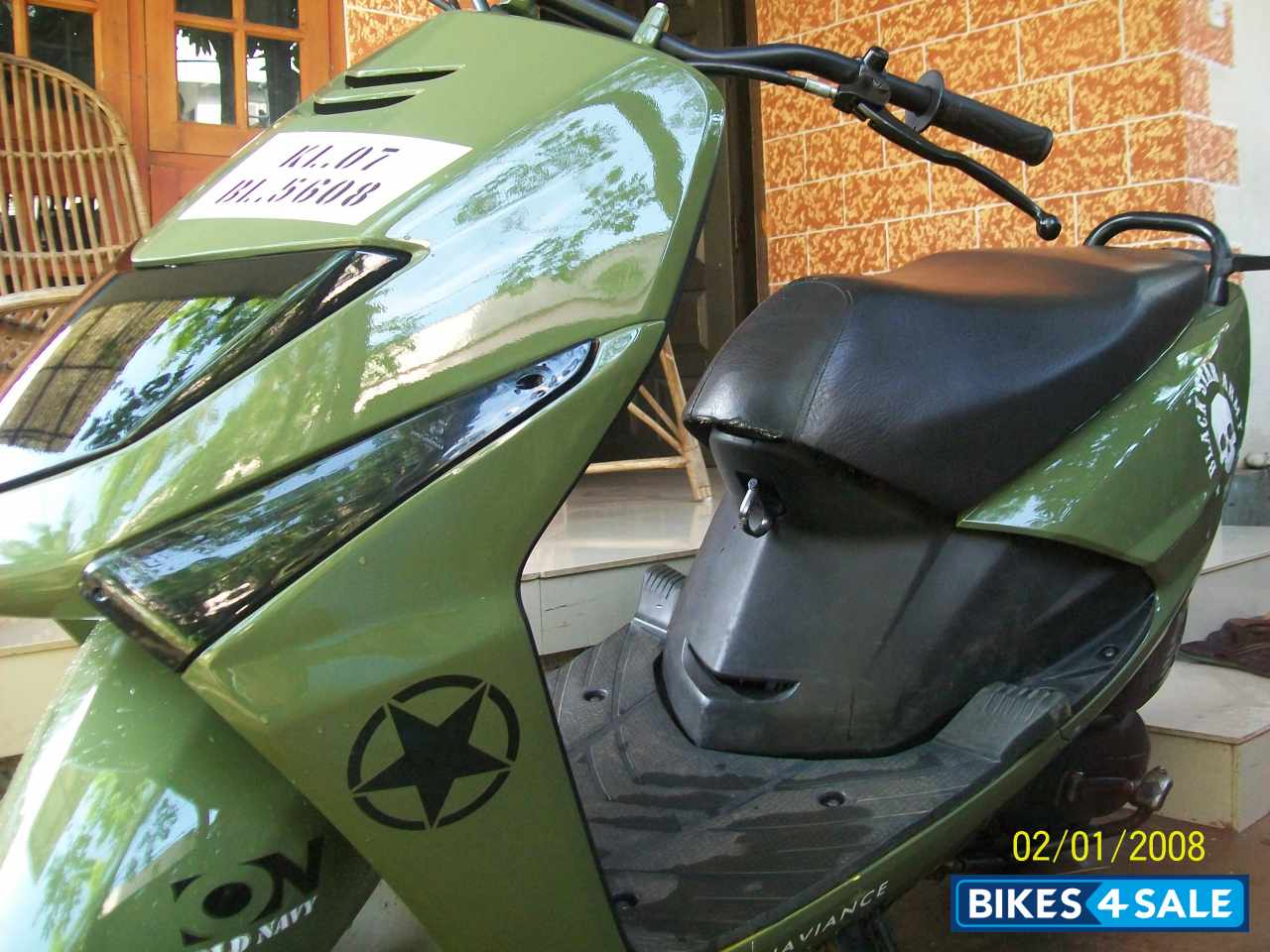 Bike stickers design honda dio -  Honda Dio Green