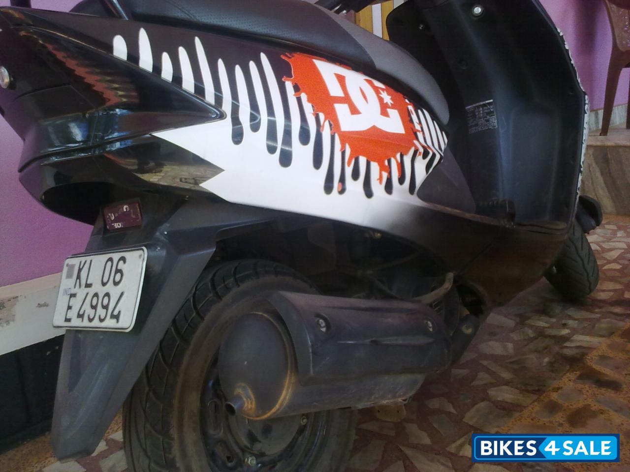 Bike stickers design for dio - Honda Dio Modified Black Black And White Honda Dio