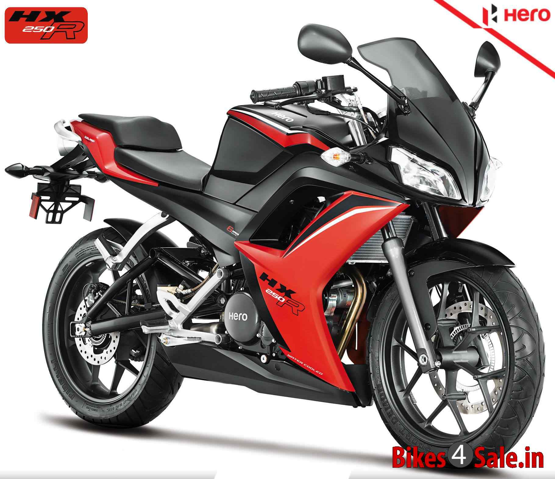 Hero Hx250r Motorcycle Picture Gallery In Black And Red