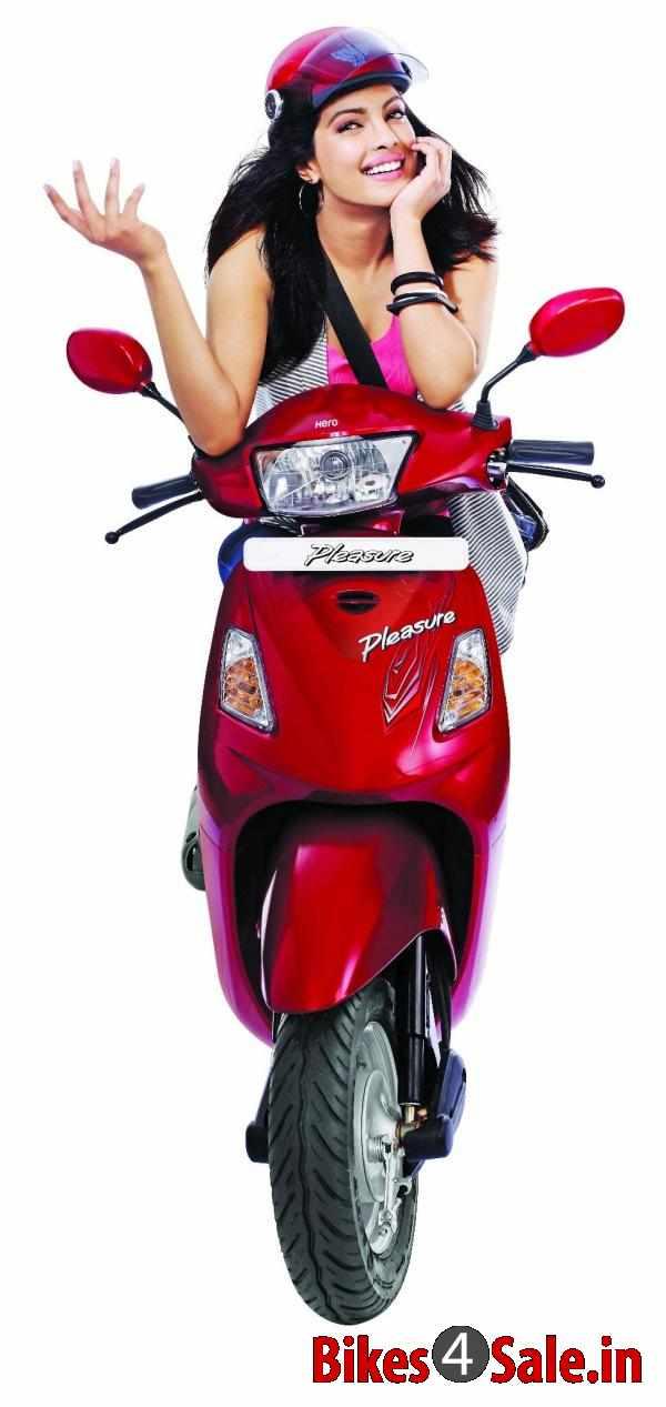 Priyanka Chopra With Hero Pleasure Scooter Hero Pleasure