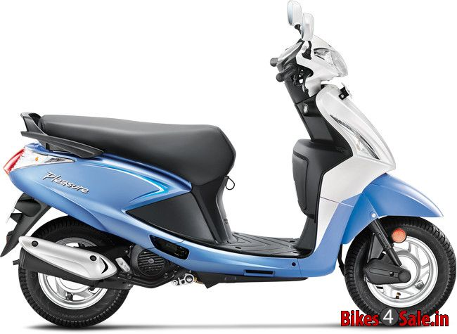 The picture showing the side view of Hero Pleasure in its ...