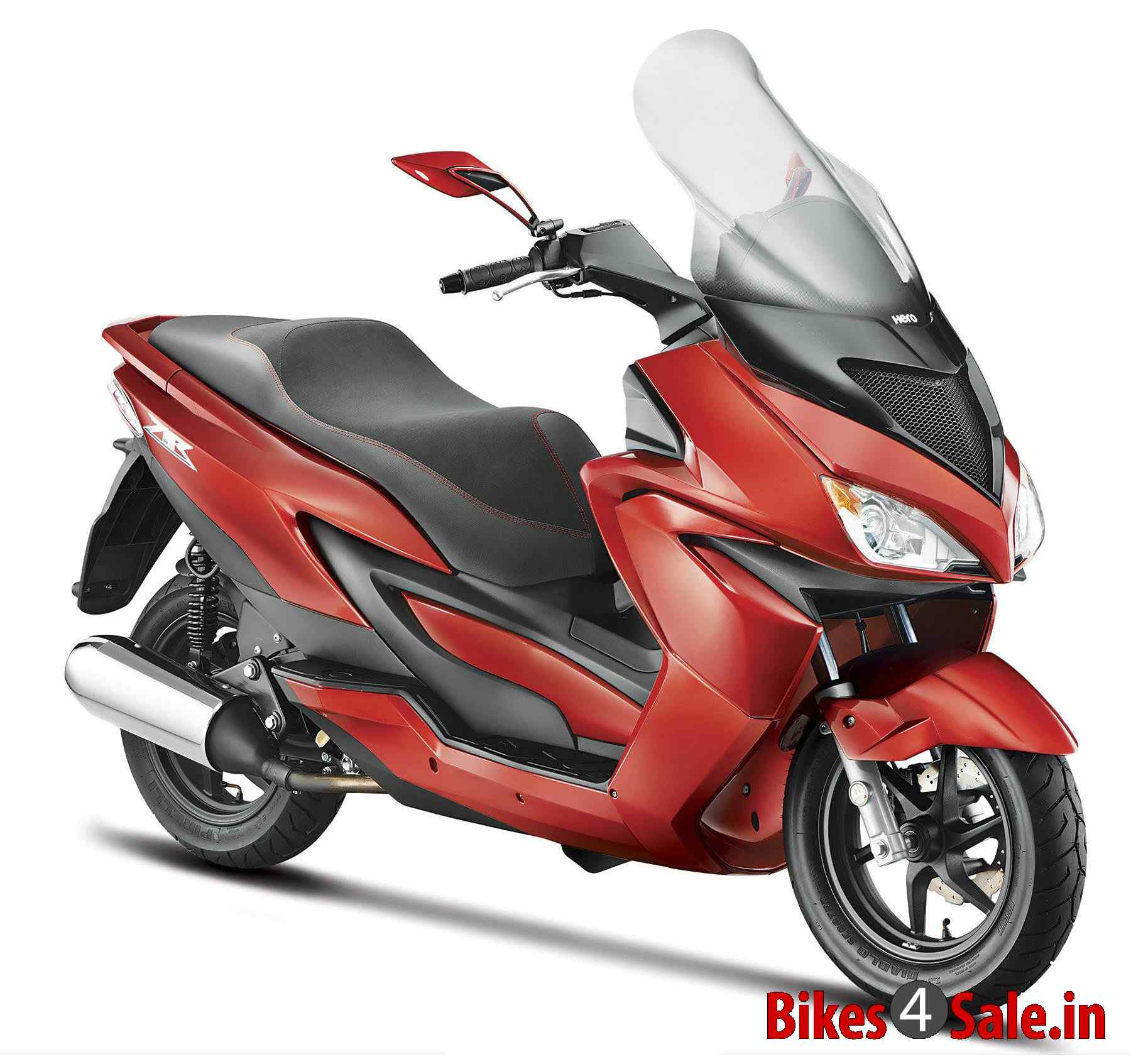 Hero ZIR 150 Scooter Picture Gallery. Red Color. European step-thru