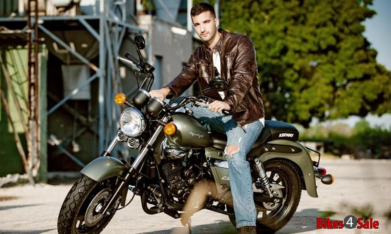 Biker Hunk With Keeway's Stunning Motorcycle. Keeway