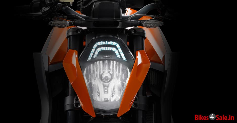 Headlight of KTM 1290 Super Duke R