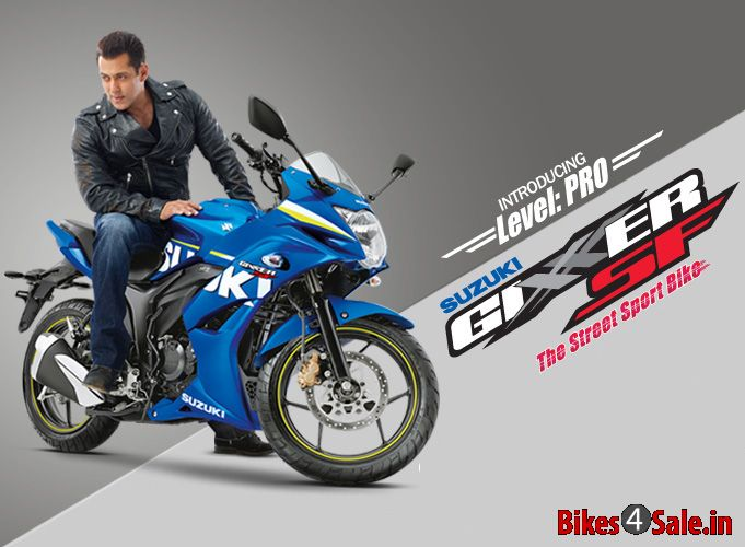 Salman Khan with Gixxer SF