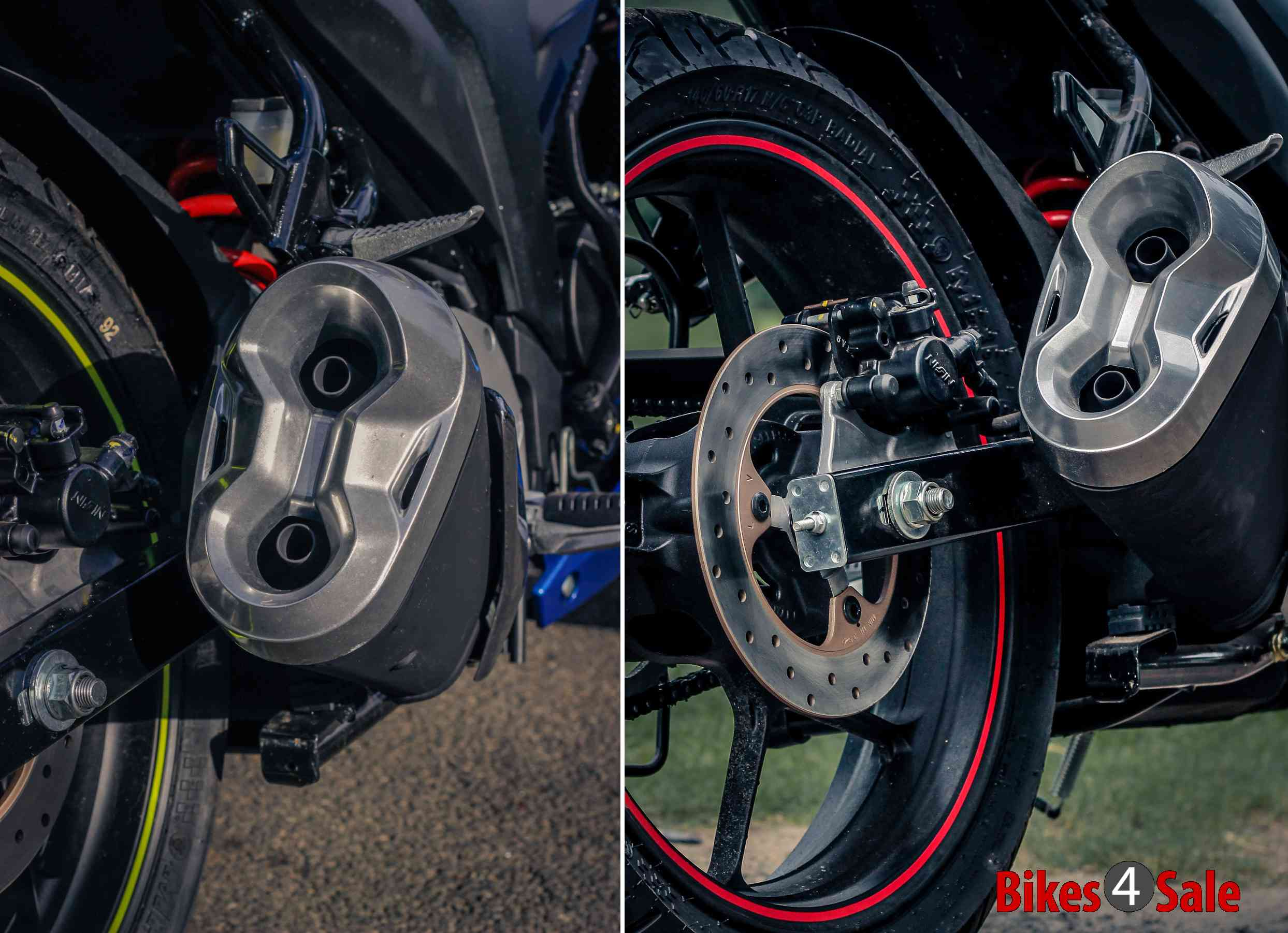 New Aluminium Exhaust Covers of Gixxer SF
