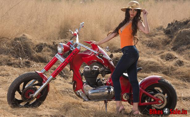 Custom chopper motorcycles and girls what