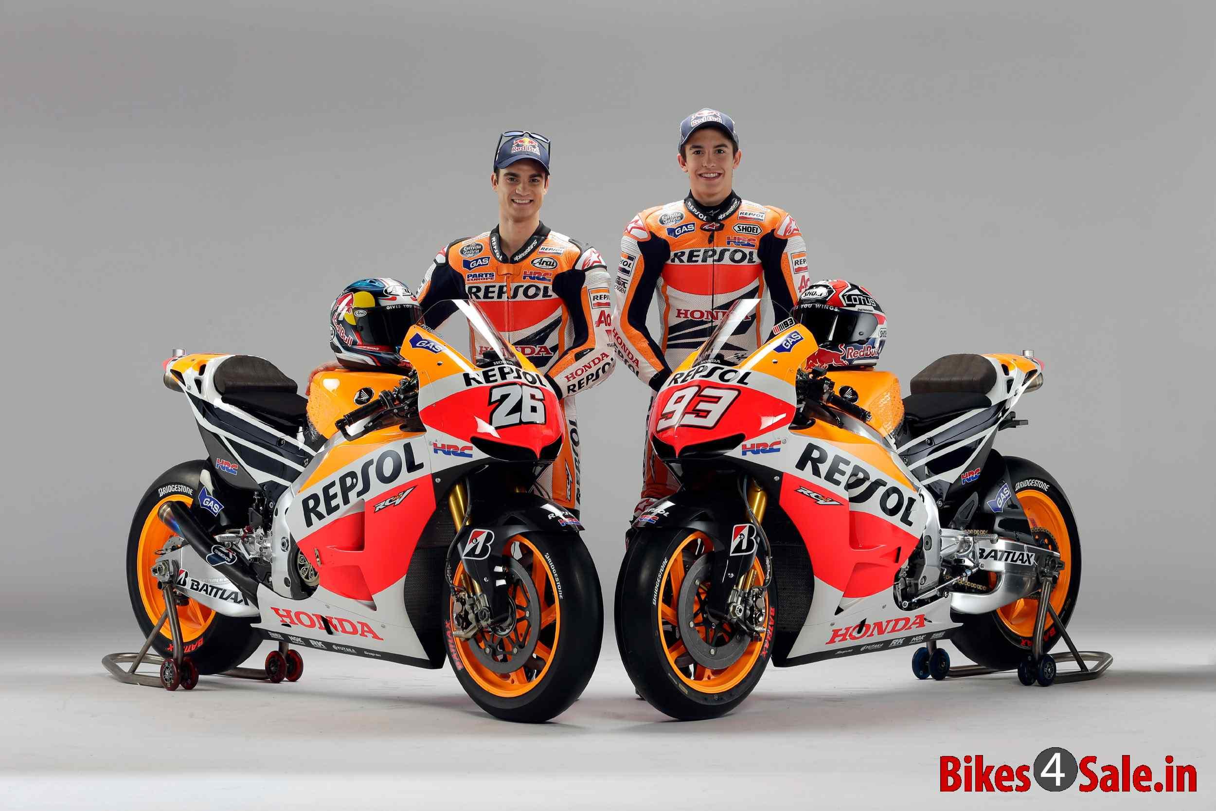 Repsol Honda Unveils 2013 Honda RC213V MotoGP Racebike - Bikes4Sale