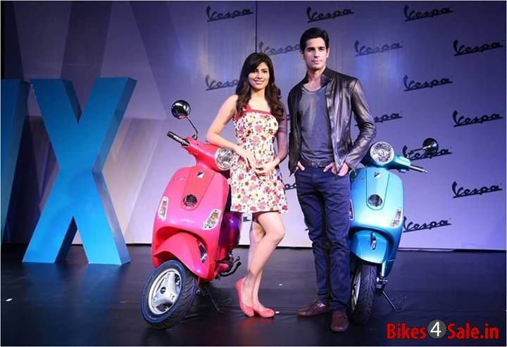 Siddhart Malhotra and Vanya Mishra Launching the 2013 Vespa VX in Pune