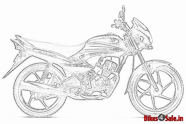 Sketch of Honda's Upcoming Commuter Bike for India