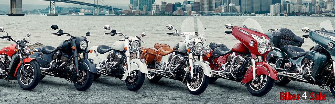 Indian Motorcycles Lineup 2016