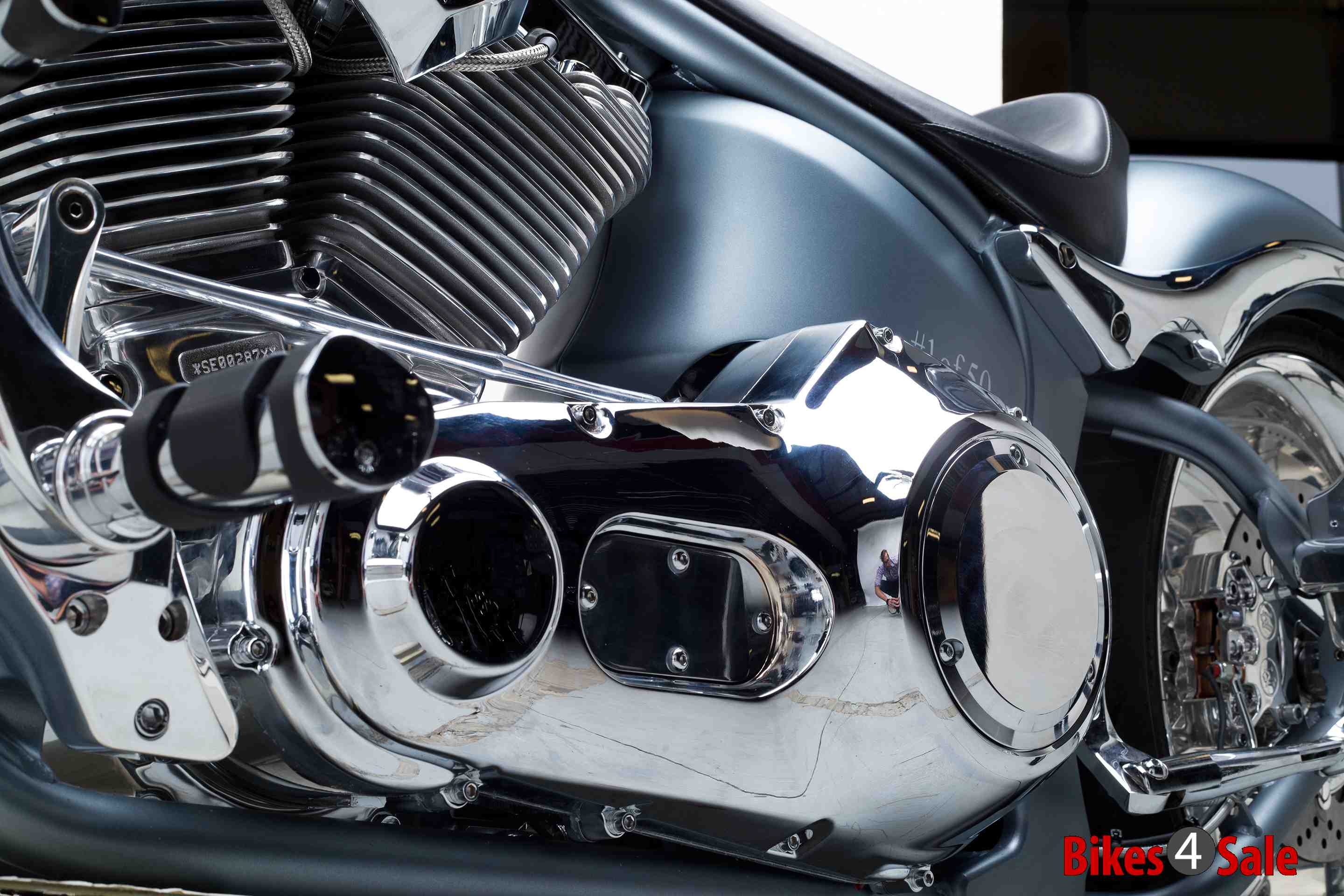 K9 Red Chopper Mighty Chrome Finish Engine