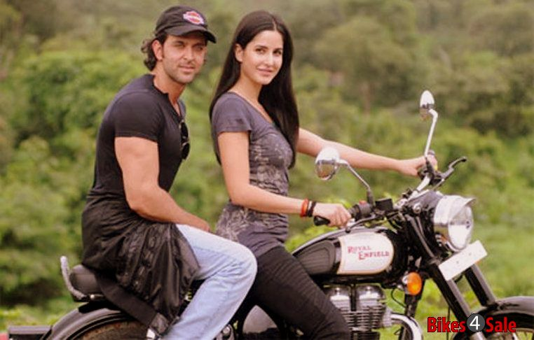 Katrina Kaif Riding Royal Enfield Classic